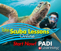 Start your scuba certification course training online today!